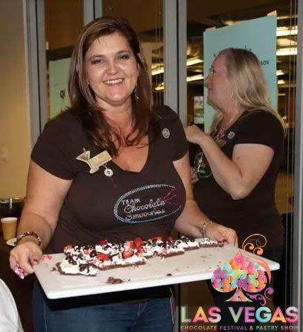 Christie Jachec At The Las Vegas Chocolate Festival Dove Chocolate